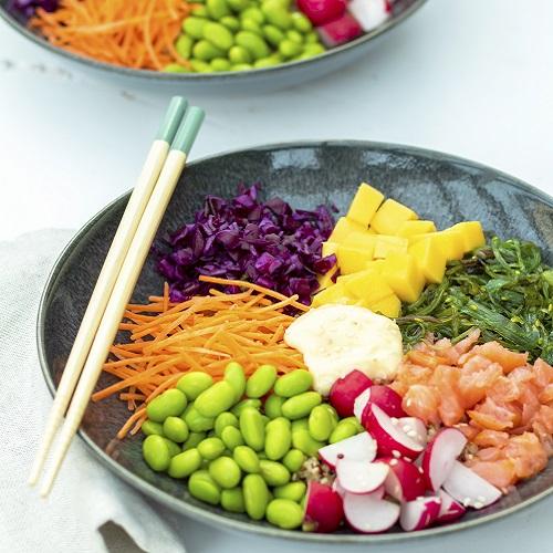 Poké bowl met quinoa