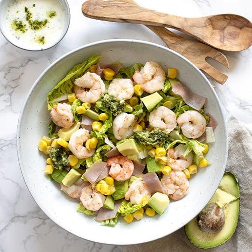 Gamba's & avocado salade