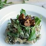 Stamppot rucola met champignons