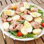 Tonijn en ei salade