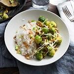 Spruitjes en rijst met een Oosters tintje
