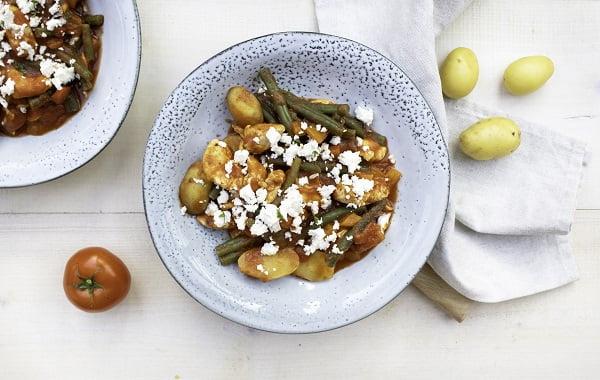 Hollandse groente stoof met kip