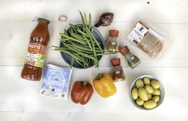 Hollandse groente stoof met kip ingrediënten