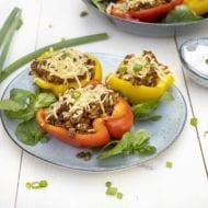 Gevulde paprika vegetarisch gehakt