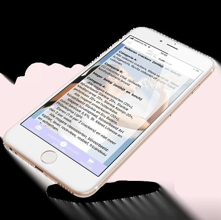 Slinc. app met boodschappenlijstje