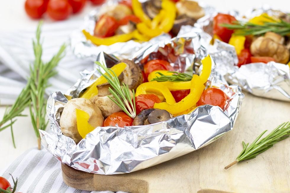 BBQ groente op de barbecue