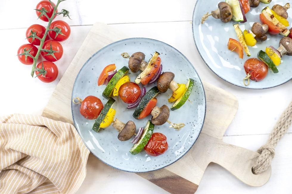 BBQ kebab sticks vegetarisch