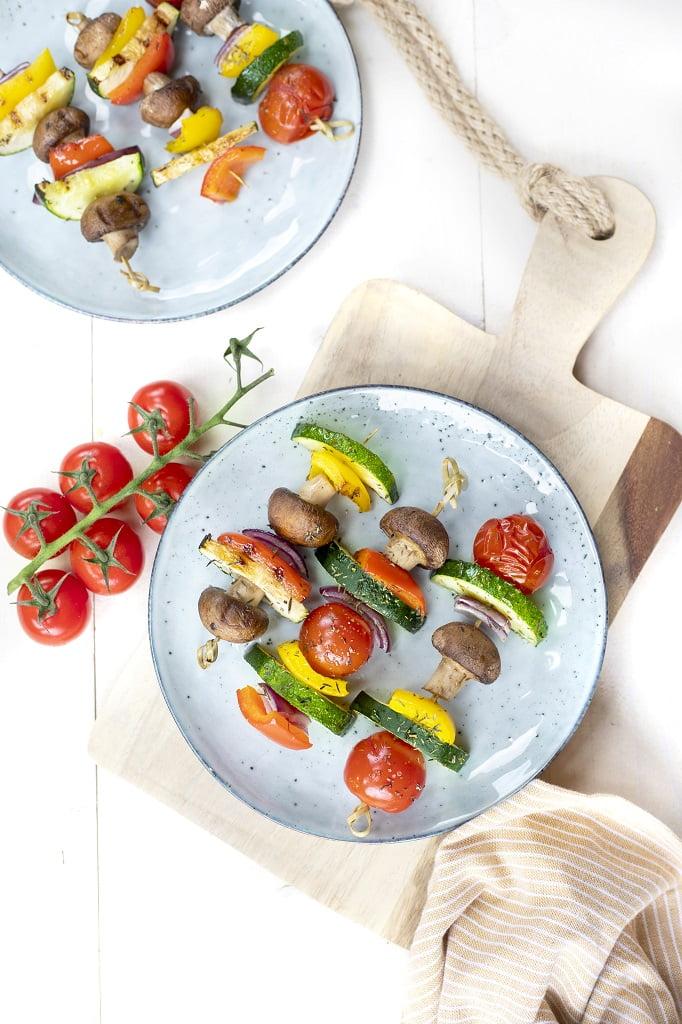 BBQ vegetarische kebab stick