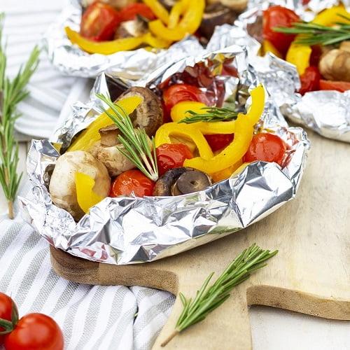 Barbecue groente pakketje