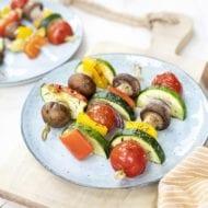 Barbeque vegetarische kebab stick bbq