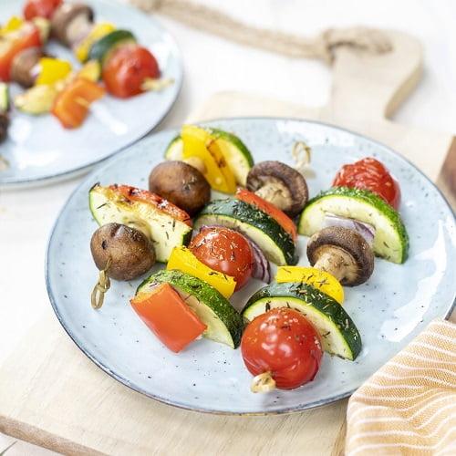 Vegetarische kebab BBQ stick