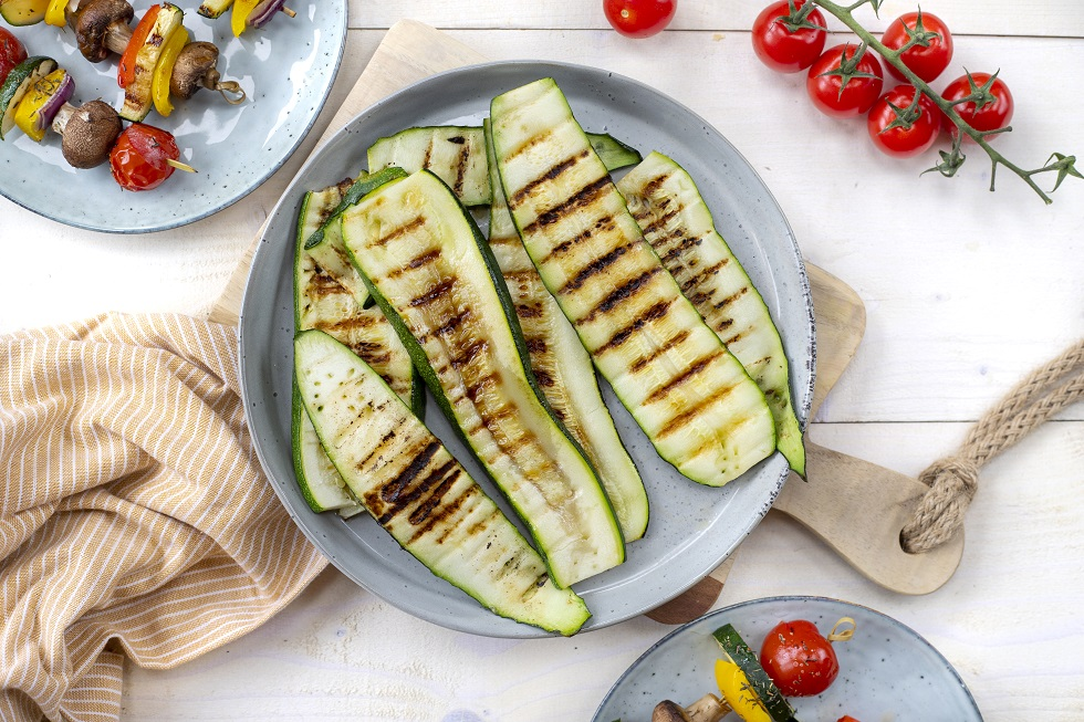 Gegrilde courgette barbeque