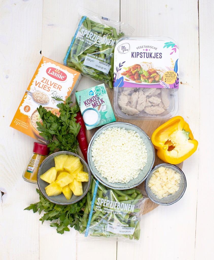 Vegetarische kip kerrie ingrediënten
