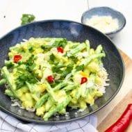 Vegetarische kip kerrie recept met rijst