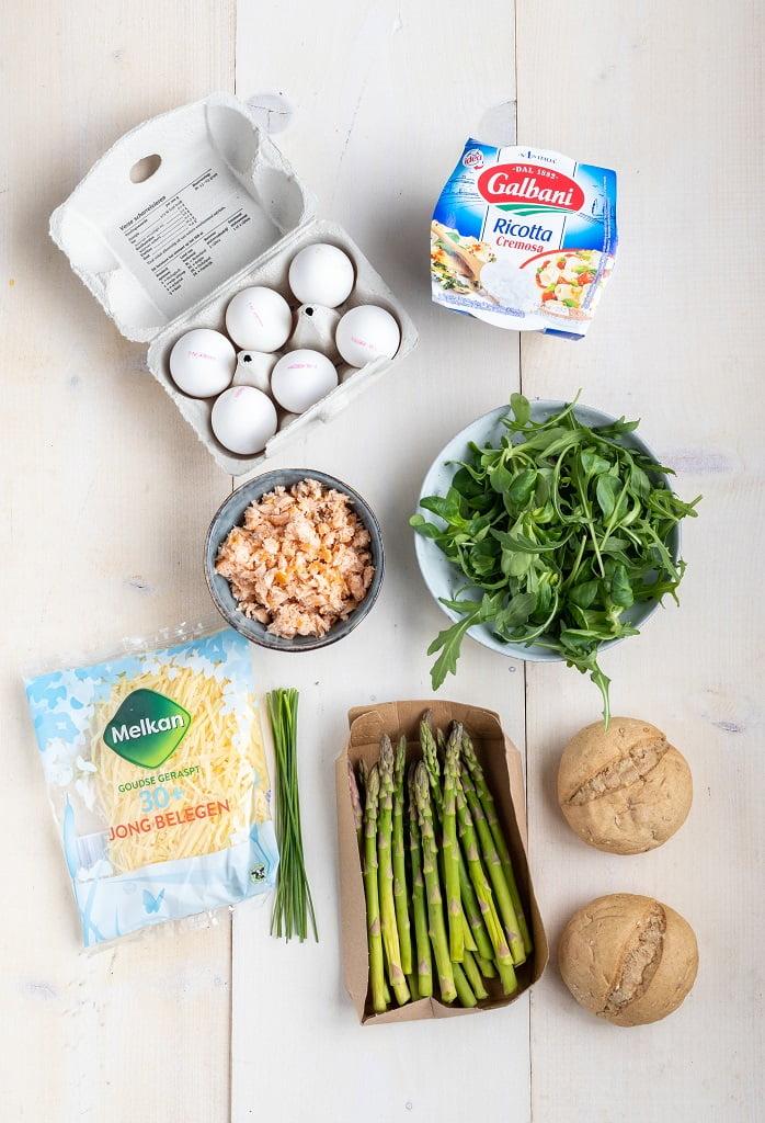 Ricotta en groene asperges