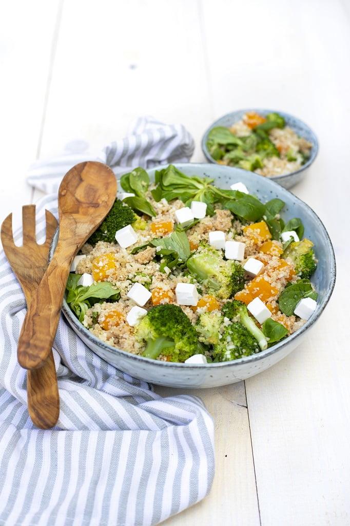 Couscous maken met broccolirijst en bloemkoolrijst