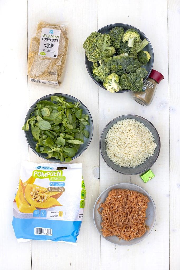 Couscous met pompoen en broccoli