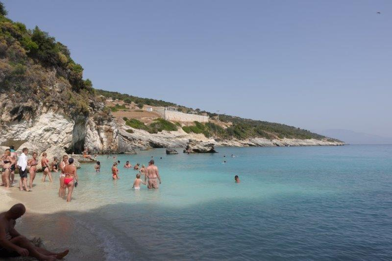Porto Xigia Sulfur beach